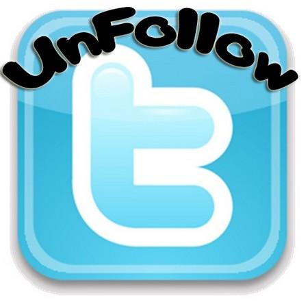 unfollow on twitter